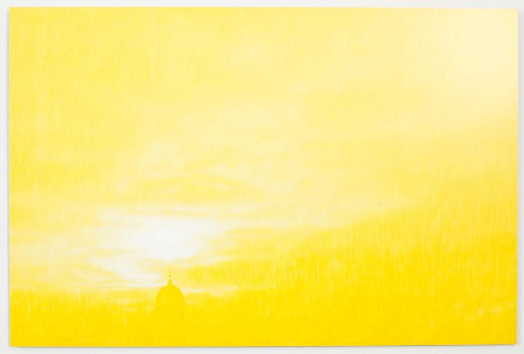 Marja Kanervo Esiinkatoavaa Framflyende (Dis)appearing Kiasma, näyttely, 17.05.2013 - 29.09.2013 Kevään valo II (Kaksi tutkielmaa) Spring Light II (Two Studies) 2013 osa3 manuaalisesti käsitelty värivalokuva, 4 osaa, á 180 x 120 cm, uniikki manually manipulated colour photograph, 4 parts, 180 x 120 cm each, one-off kuvattu kataloogia, luetteloa varten 3. krs kuva: Pirje Mykkänen